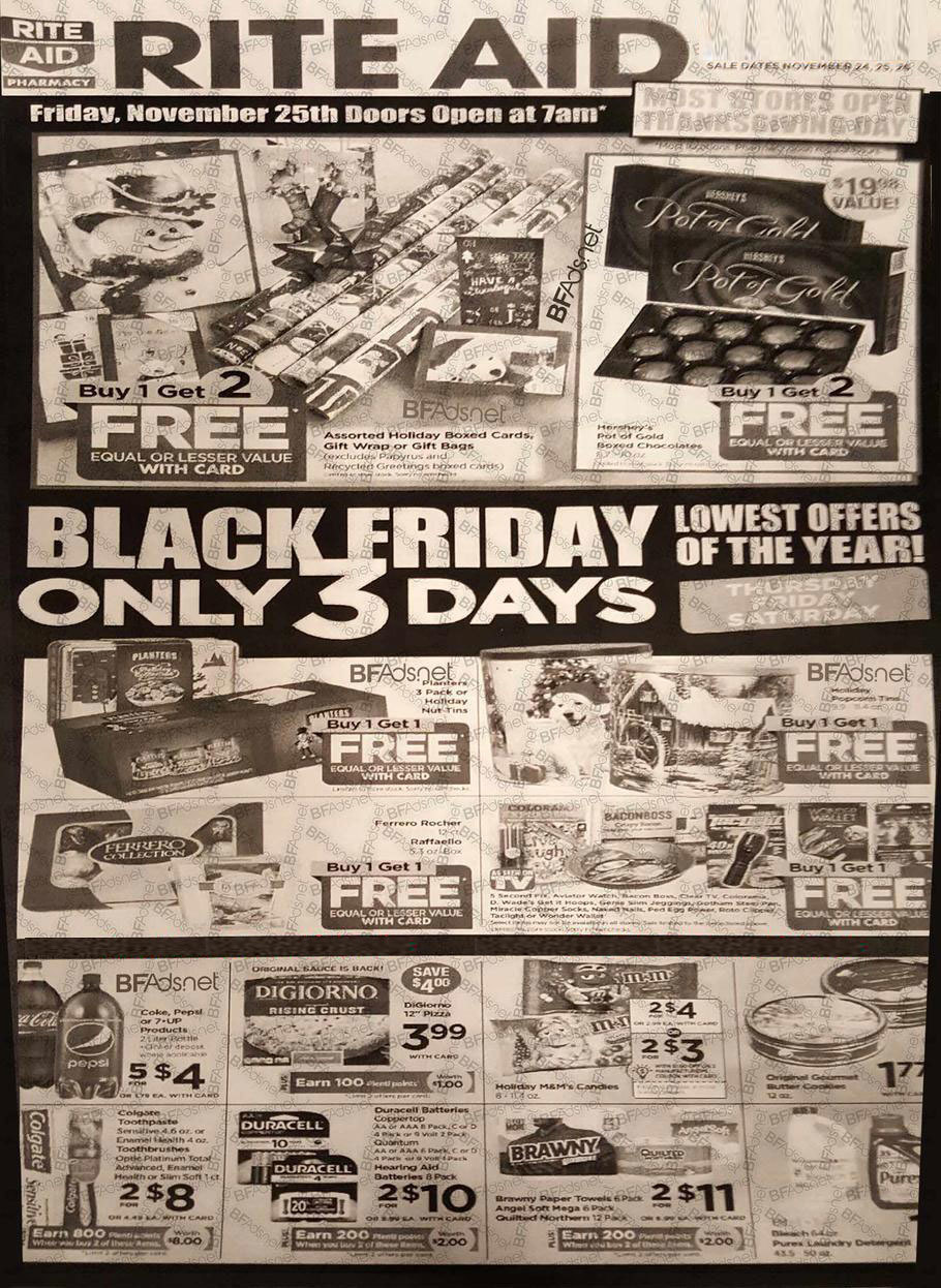 Rite Aid Black Friday 2016 Ad - Page 1