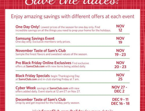Sam's Club Holiday Hours & Sales Announced!
