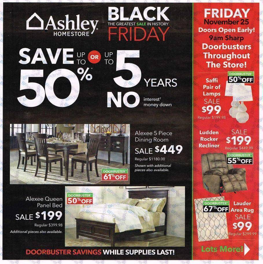 Ashley HomeStore Black Friday 2016 Ad - Page 1
