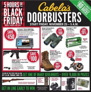Cabela's Black Friday 2016 Ad - Page 1