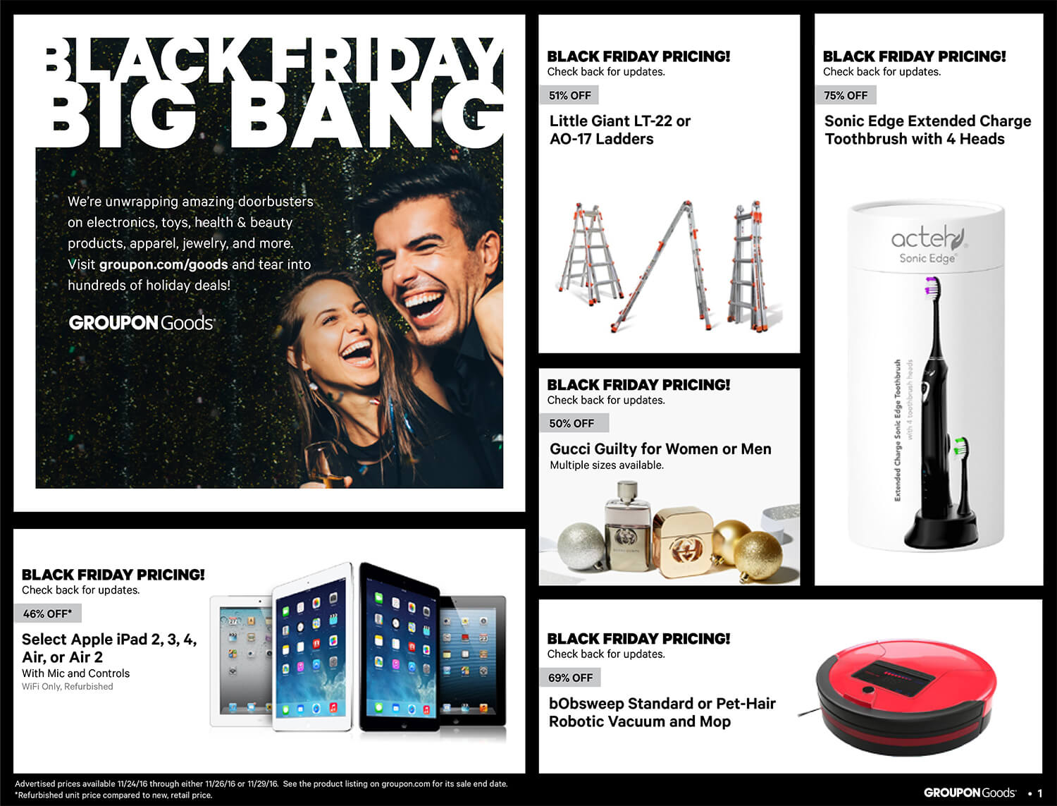 Groupon Black Friday 2016 Ad - Page 1