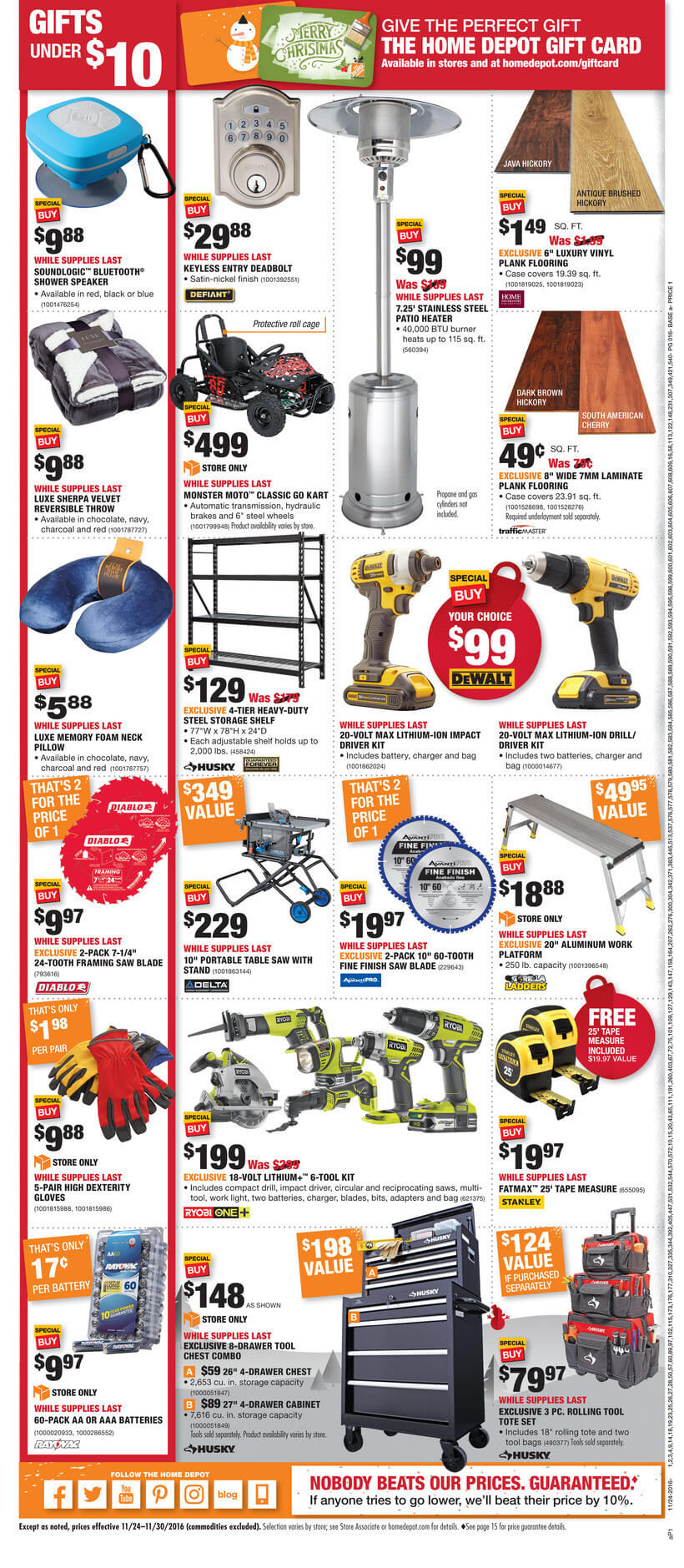 Home Depot Thanksgiving Sale