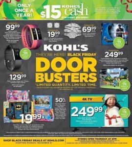 Kohls Black Friday 2016 Ad - Page 1