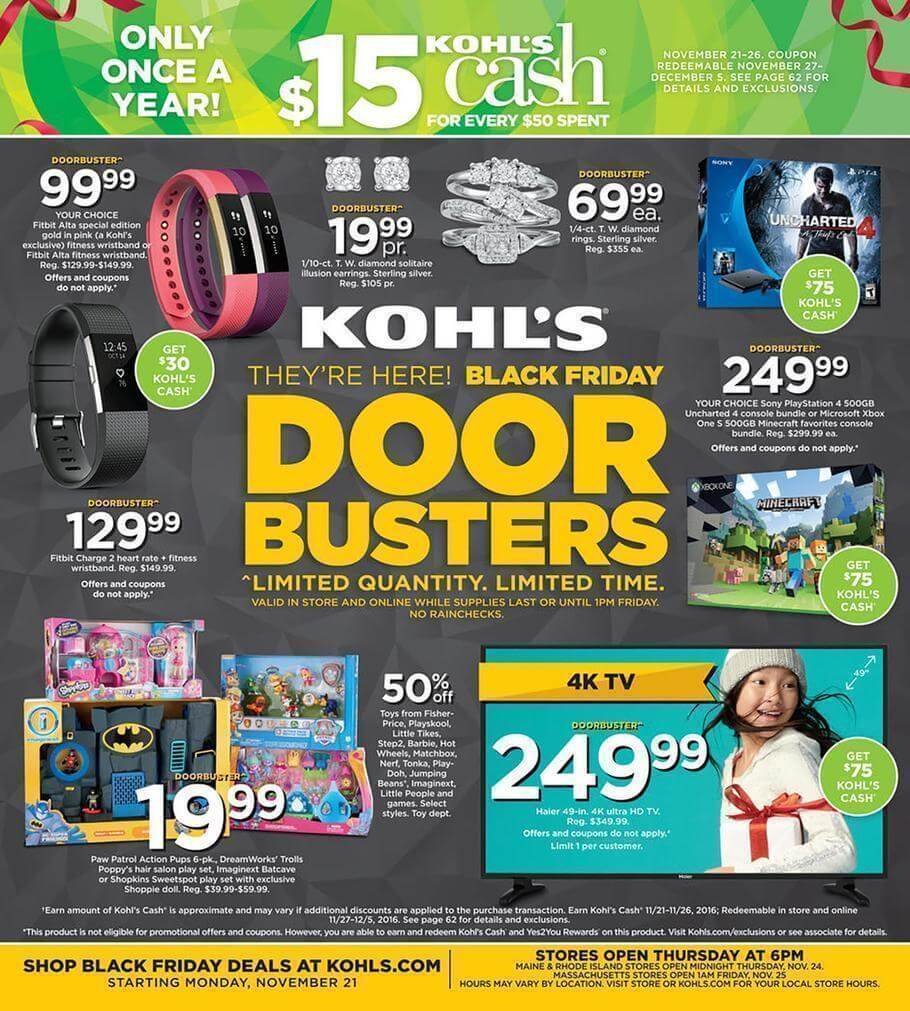 Kohls Black Friday 2016 Ad - Page 1