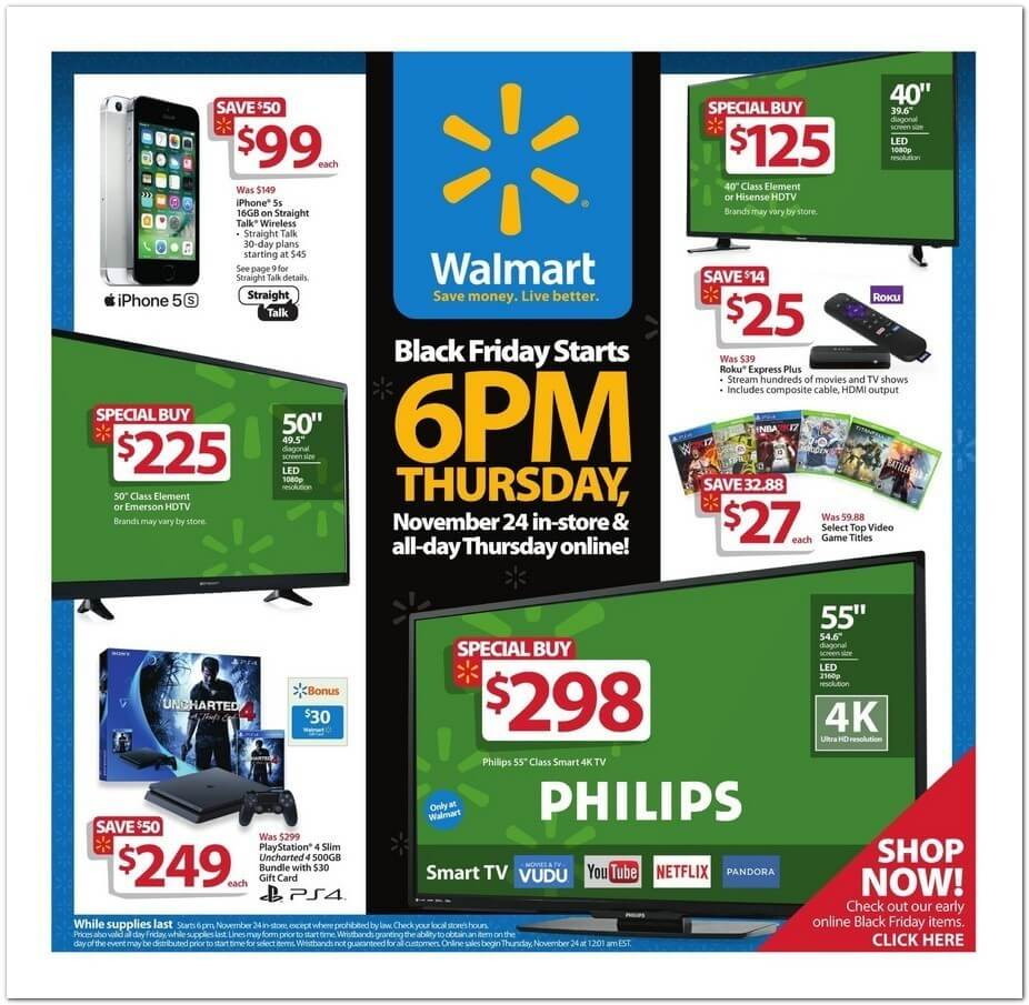 Walmart Black Friday 2016 Ad - Page 1